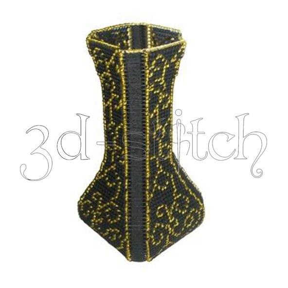 """Набор для вышивания на пластиковой канве """"Изысканная ваза"""", арт. В003"""