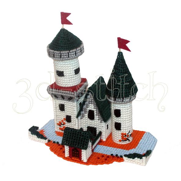 "Набор для вышивания на пластиковой канве ""Рыцарский замок"", арт. ЗМ002"