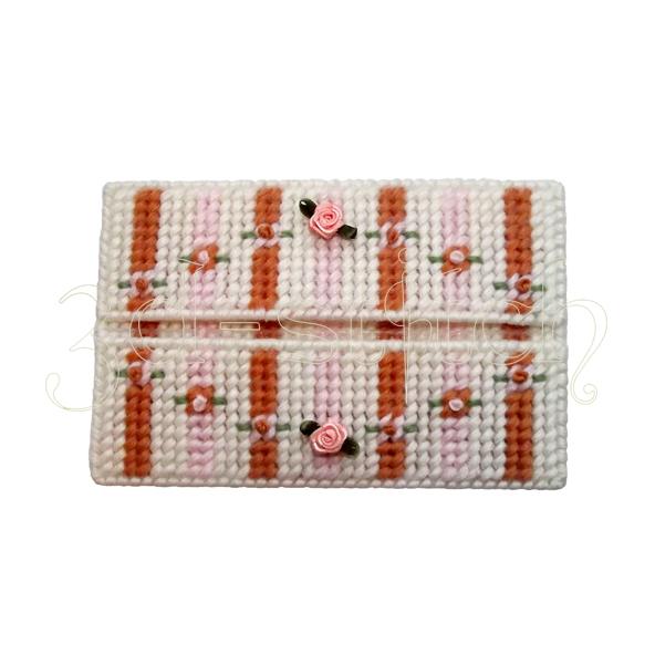 """Набор для вышивания на пластиковой канве Конверт """"Абрикосовый цвет"""", арт. КВ004"""