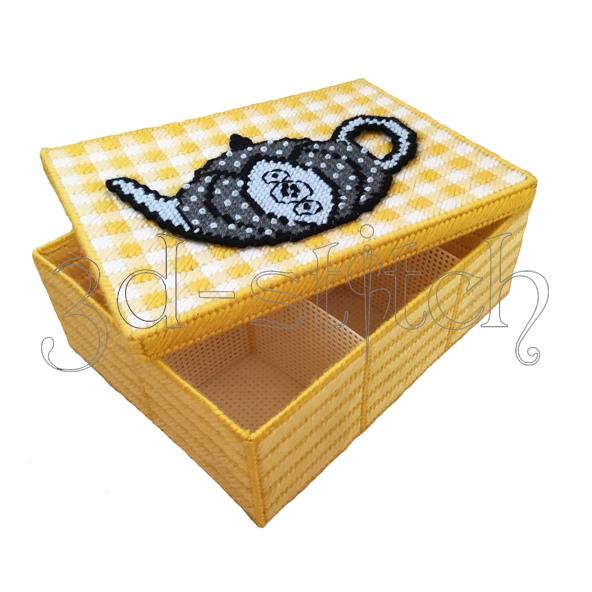 """Набор для вышивания на пластиковой канве Коробка """"Чайная церемония"""", арт. КР009"""