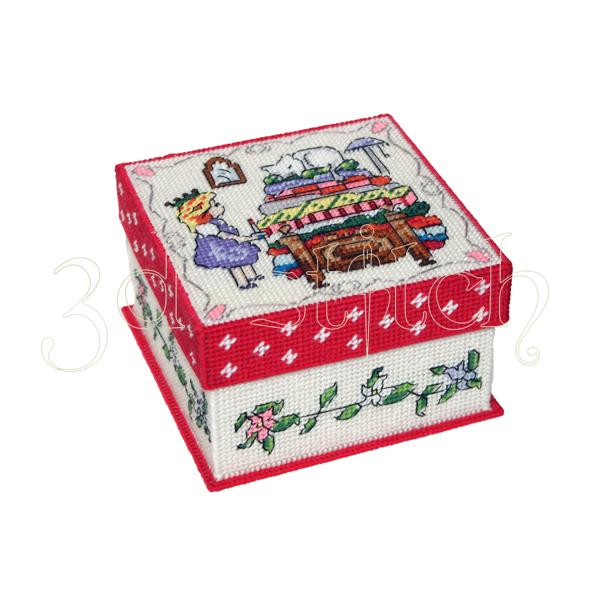 """Набор для вышивания на пластиковой канве Коробка """"Принцесса на горошине"""", арт. КР024"""