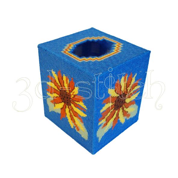 """Набор для вышивания на пластиковой канве Салфетница """"Подсолнухи"""", арт. КХ005-1"""