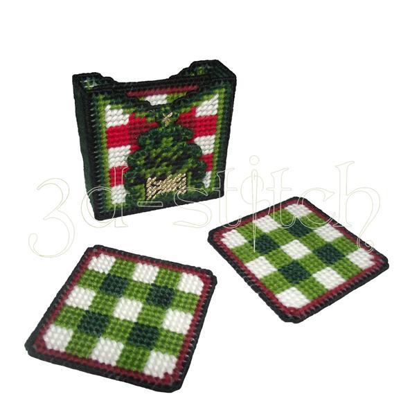 """Набор для вышивания на пластиковой канве Подставки """"Новогодние"""", арт. НГ003-1"""