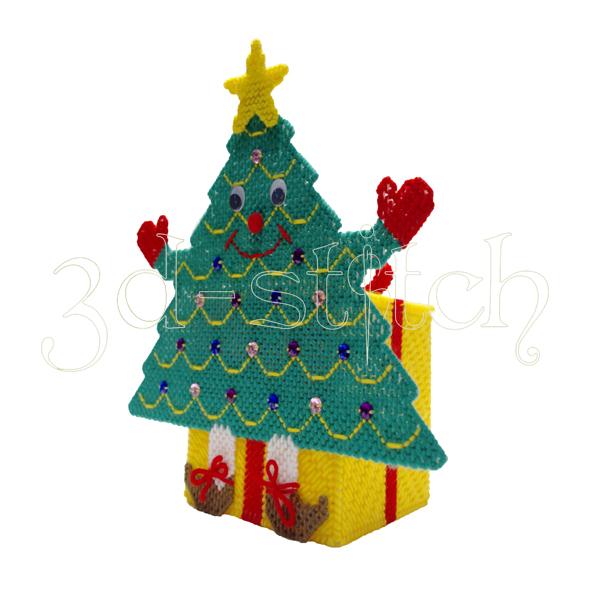 """Набор для вышивания на пластиковой канве Коробка """"Новогодняя красавица"""", арт. НГ011"""