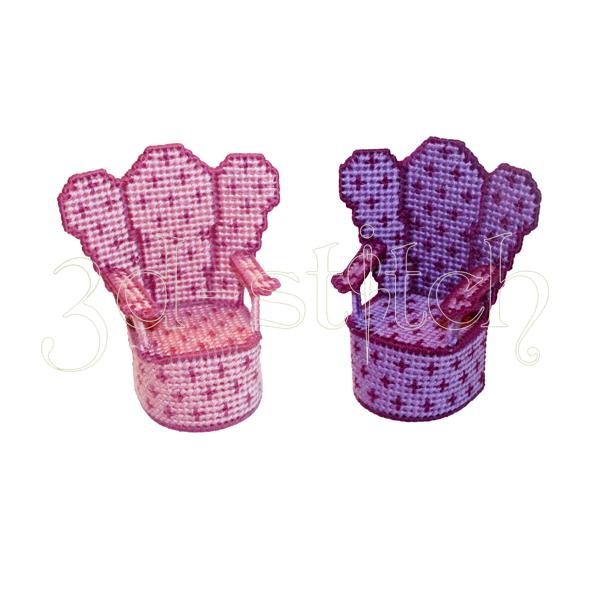 """Набор для вышивания на пластиковой канве Два кресла """"Амелия"""", арт. Н009-6"""