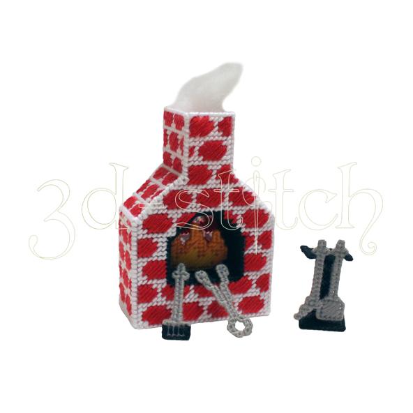 """Набор для вышивания на пластиковой канве Камин """"Амелия"""", арт. Н009-7"""