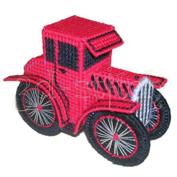 """Набор для вышивания на пластиковой канве """"Красный родстер"""", арт. Р002"""