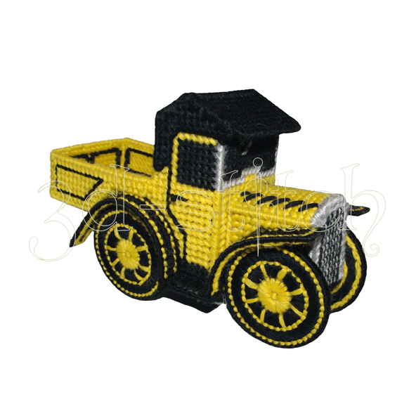 """Набор для вышивания на пластиковой канве """"Желтый грузовичок"""", арт. Р003"""