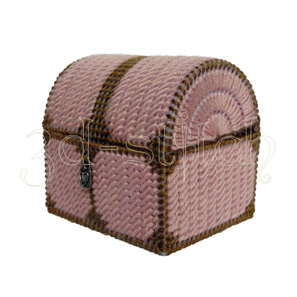 """Набор для вышивания на пластиковой канве Сундучок для мелочей """"Кокетка"""", арт. СД002-1"""