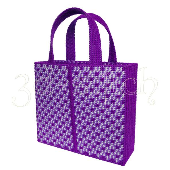 """Набор для вышивания на пластиковой канве Сумка """"Яркая орхидея"""", арт. СМ001-2"""