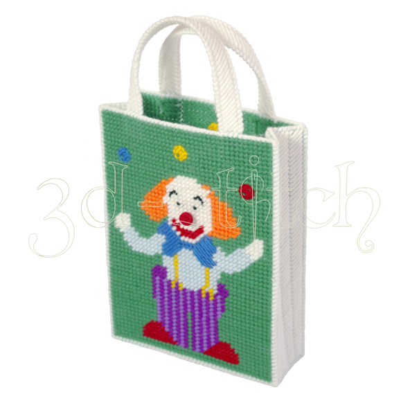 """Набор для вышивания на пластиковой канве Сумочка """"Веселый клоун"""", арт. СМ006"""