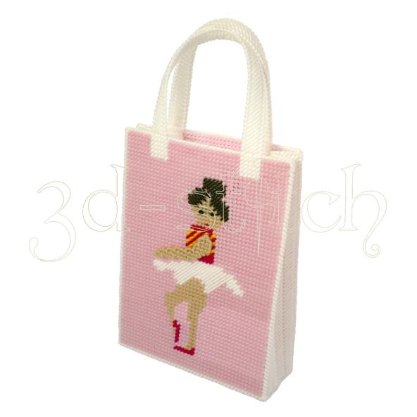 """Набор для вышивания на пластиковой канве Сумочка """"Балерина"""", арт. СМ0007"""