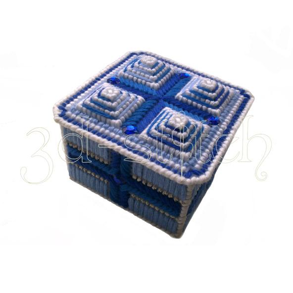 """Набор для вышивания на пластиковой канве """"Сапфировая шкатулка"""", арт. Ш006"""