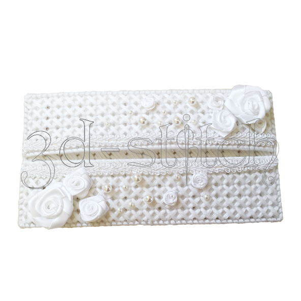 """Набор для вышивания на пластиковой канве """"Поздравительный конверт"""" (белый), арт. КВ002-1"""