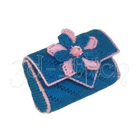 """Набор для вышивания на пластиковой канве """"Голубой кошелек"""", арт. КВ001"""