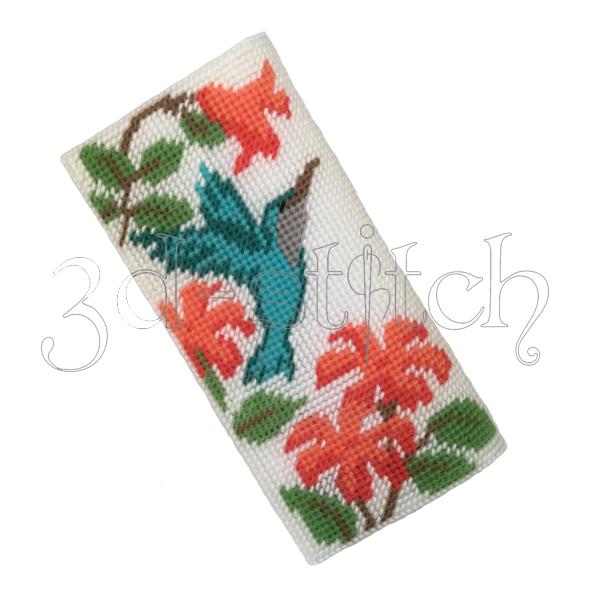 """Набор для вышивания на пластиковой канве Клатч """"Колибри и цветы"""", арт. КВ003"""