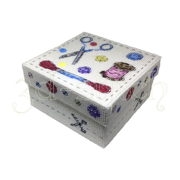 """Набор для вышивания на пластиковой канве Коробка """"Мастерица"""", арт. КР014"""