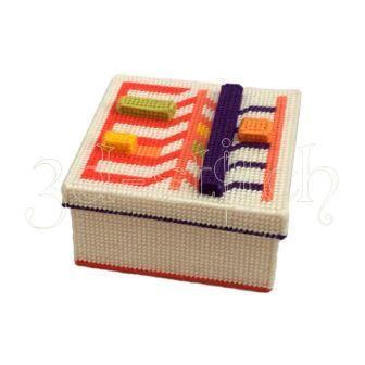 """Набор для вышивания на пластиковой канве Коробка """"Геометрия чувств"""", арт. КР021"""