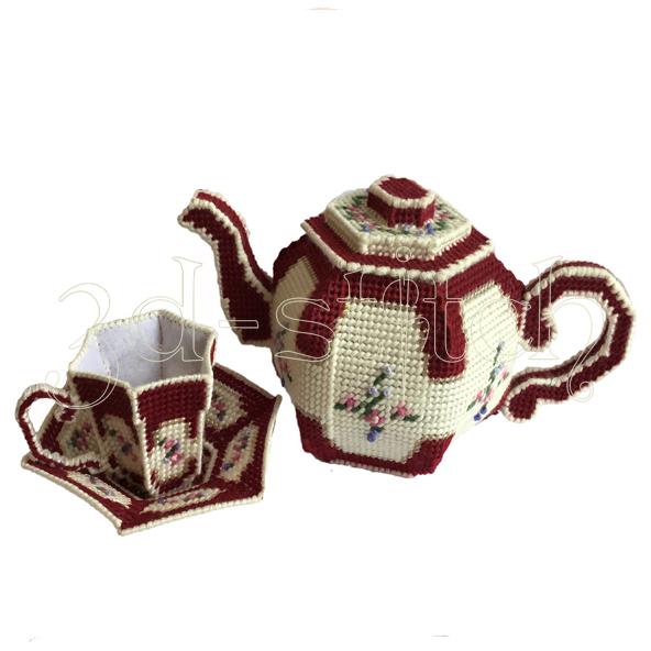 """Набор для вышивания на пластиковой канве Набор """"чайная пара"""", арт. КХ003"""