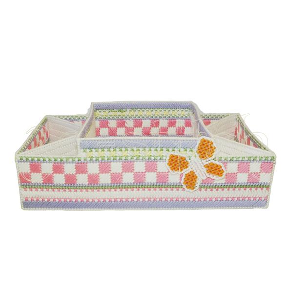 """Набор для вышивания на пластиковой канве Коробка для подгузников """"Нежность"""", арт. Н002-3"""