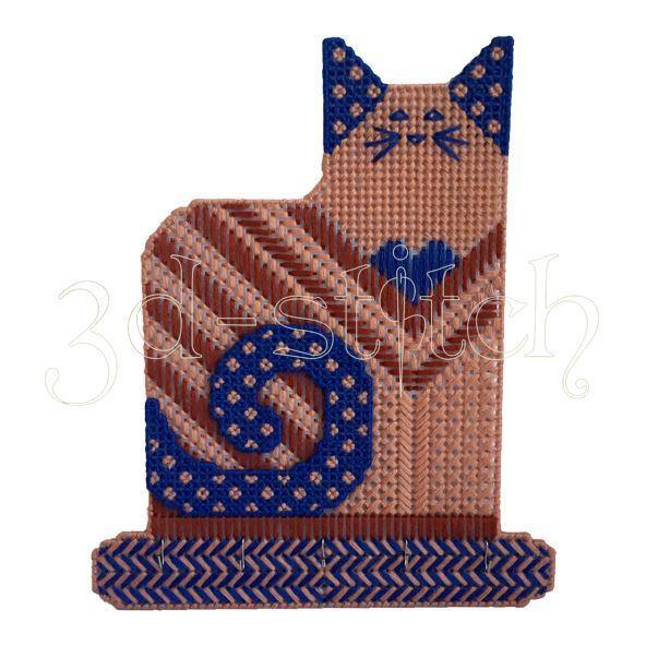 """Набор для вышивания на пластиковой канве Ключница """"Лунный кот"""", арт. Р016"""