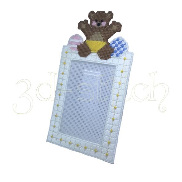 """Набор для вышивания на пластиковой канве Фоторамка """"Мишутка"""", арт. Ф002"""