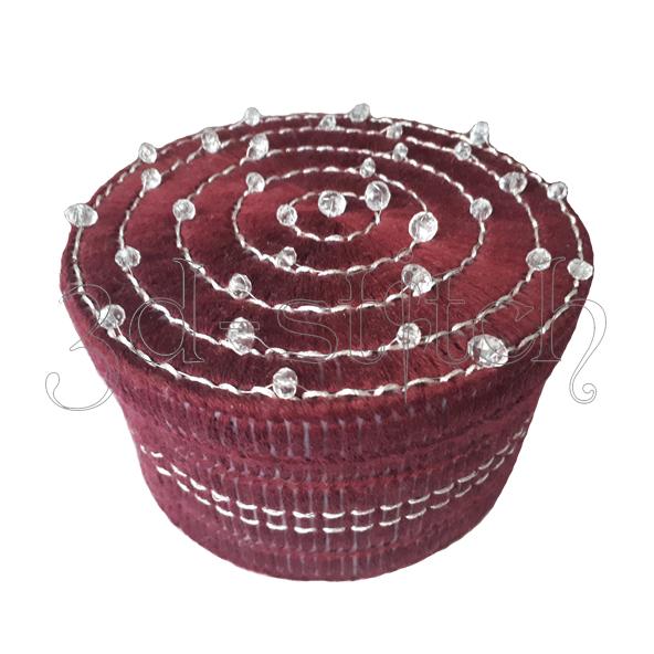 """Набор для вышивания на пластиковой канве Шкатулка """"Гранатовый лед"""", арт. Ш001-1"""