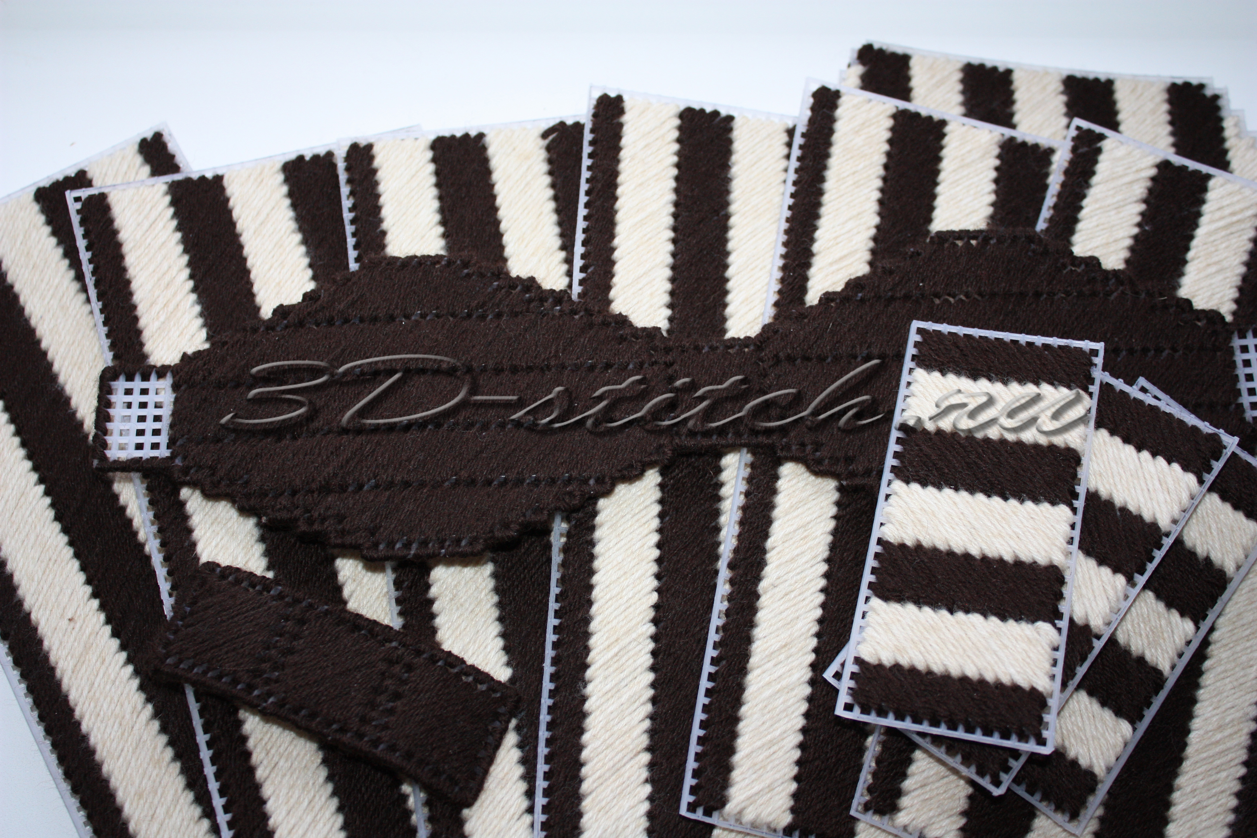 Объемная вышивка - мастер-класс - Вышитая шкатулка - Этап 2 - Готовые вышитые детали