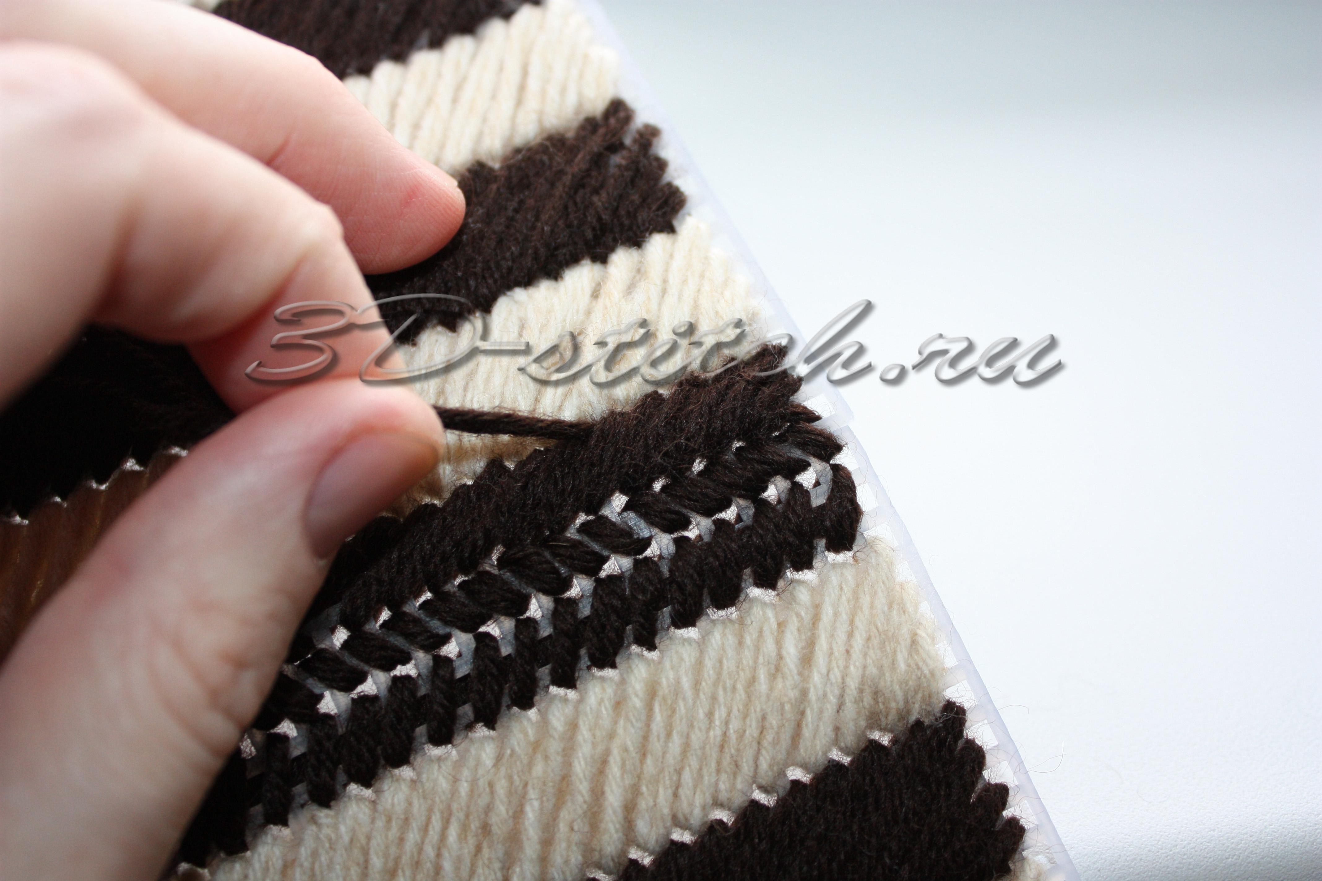 Объемная вышивка - мастер-класс - Вышитая шкатулка - Этап 4 - Сборка шкатулки