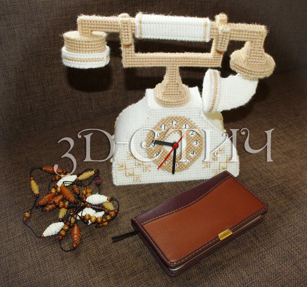 Мастер класс вышивки на пластиковой канве - телефон-часы