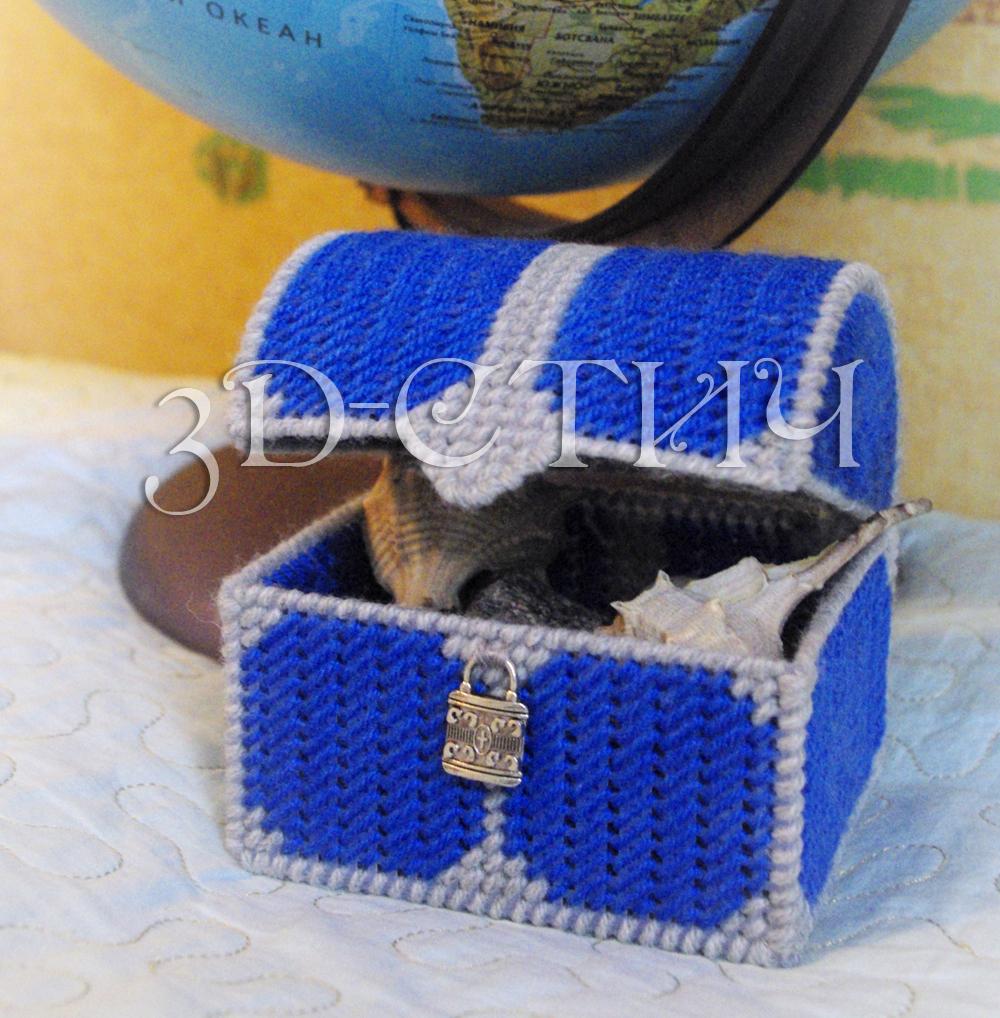 Мастер класс вышивки на пластиковой канве - Сундучок