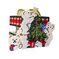 """Набор для вышивания на пластиковой канве Подсвечник """"Новогодние мишки"""", арт. НГ003-2"""