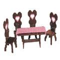 """Набор для вышивания на пластиковой канве Стол и 4 стула """"Амелия"""", арт. Н009-5"""