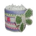 """Набор для вышивания на пластиковой канве Коробка для ватных палочек """"Нежность"""", арт. Н002-5"""