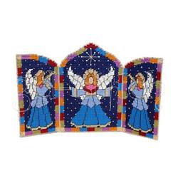 """Набор для вышивания на пластиковой канве АГ004 Триптих """"Ангел-хранитель"""""""