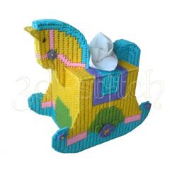 """Набор для вышивания на пластиковой канве ДТ002 Салфетница """"Лошадка"""""""