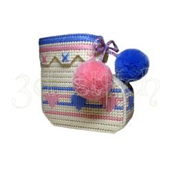"""Набор для вышивания на пластиковой канве Кашпо """"Детский носочек"""" (двойняшки)"""