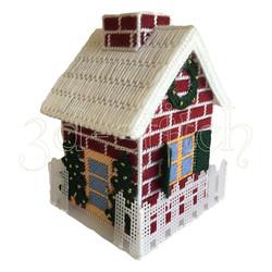 """Набор для вышивания на пластиковой канве """"Рождественский домик"""", арт. Д005"""