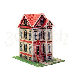 """Набор для вышивания на пластиковой канве Д008 """"Викторианский домик"""""""