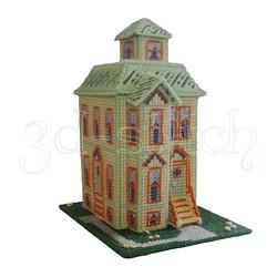 """Набор для вышивания на пластиковой канве """"Викторианский домик - 4"""", арт. Д011"""