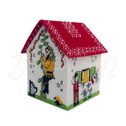 """Набор для вышивания на пластиковой канве Д015-1 Сказочный домик """"Робин Гуд"""""""
