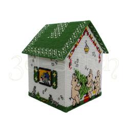 Набор для вышивания на пластиковой канве Д015-1 Сказочный домик Три поросенка