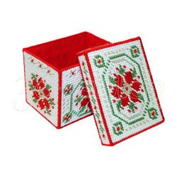 """Набор для вышивания на пластиковой канве КР005 """"Рождественская коробка"""" (большая)"""