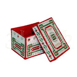 """Набор для вышивания на пластиковой канве """"Рождественская коробка"""" (малая), арт. КР006"""