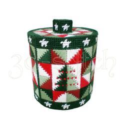 """Набор для вышивания на пластиковой канве КР007 Коробка """"Новогоднее угощение"""""""