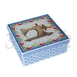 """Набор для вышивания на пластиковой канве Коробка """"Швейные мелочи"""", арт. КР012"""