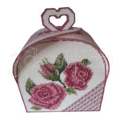 """Набор для вышивания на пластиковой канве Ридикюль """"Нежные розы"""", арт. КР026"""