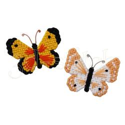 """Набор для вышивания на пластиковой канве М001 Магнитики """"Бабочки"""""""