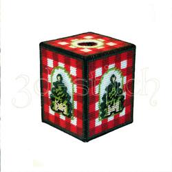 """Набор для вышивания на пластиковой канве НГ003-4 Салфетница """"Новогодняя"""""""