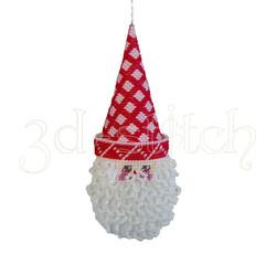 """Набор для вышивания на пластиковой канве Игрушка на елку """"Санта"""" (красный), арт. НГ012-1"""